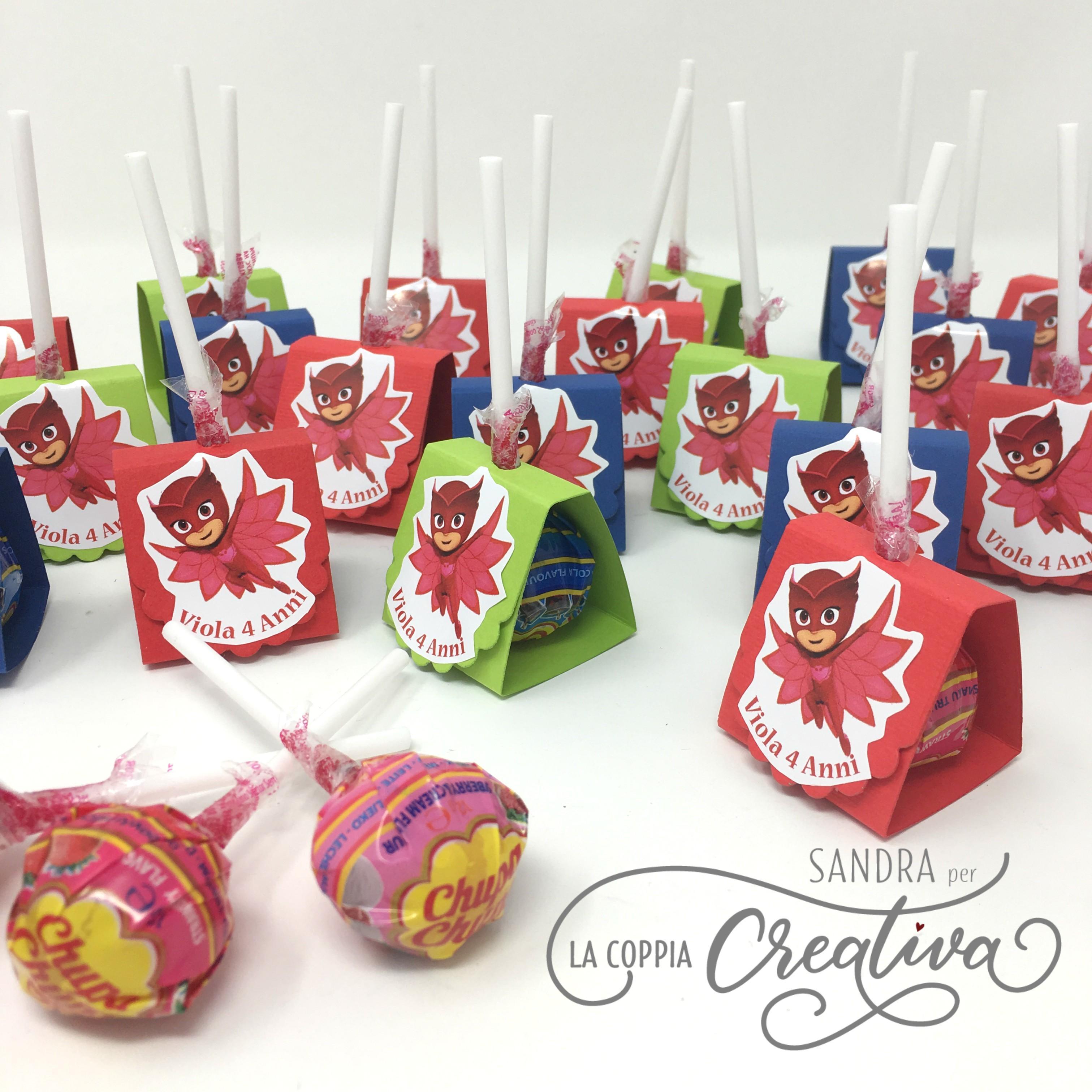 Packaging Chupa Chups Compleanno Pj Mask La Coppia Creativa